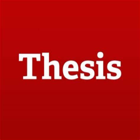 Thesis theses meervoud